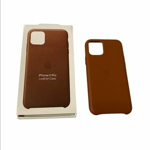 Saddle Brown Leather iPhone 11 Pro case